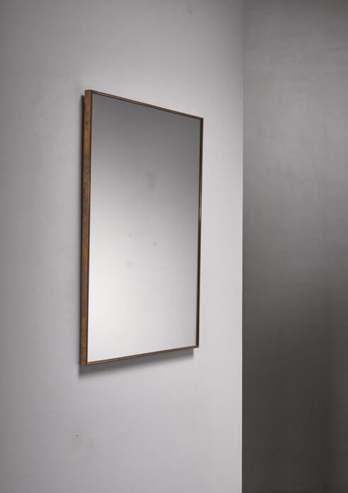 Bloomberry - Brass rectangular wall mirror