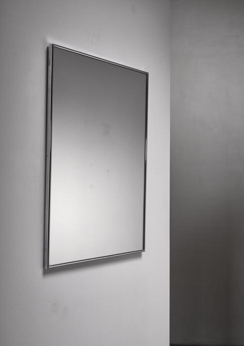 Bloomberry - Nickel-plated rectangular wall mirror, Italy