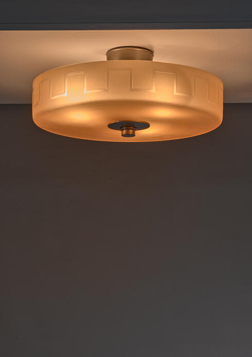 Bloomberry - Edward Hald for Orrefors amber glass ceiling lamp