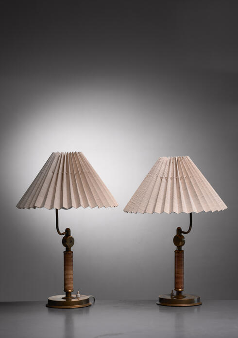 Bloomberry - Pair of Austrian table or wall lamps, 1930s