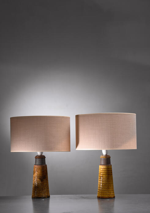 Bloomberry - Pair of Kähler ceramic table lamps