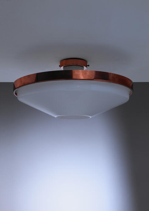 Bloomberry - Itsu Plexiglass and Copper Ceiling Lamp