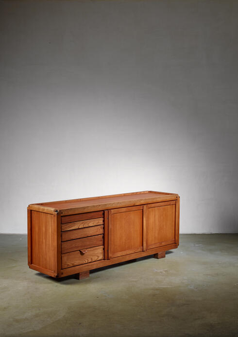 Bloomberry -  Pierre Chapo B10 elm Sideboard, France, 1960s