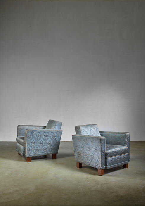 Bloomberry - Björn Trägårdh pair of easy chairs for Svenskt Tenn, 1930s