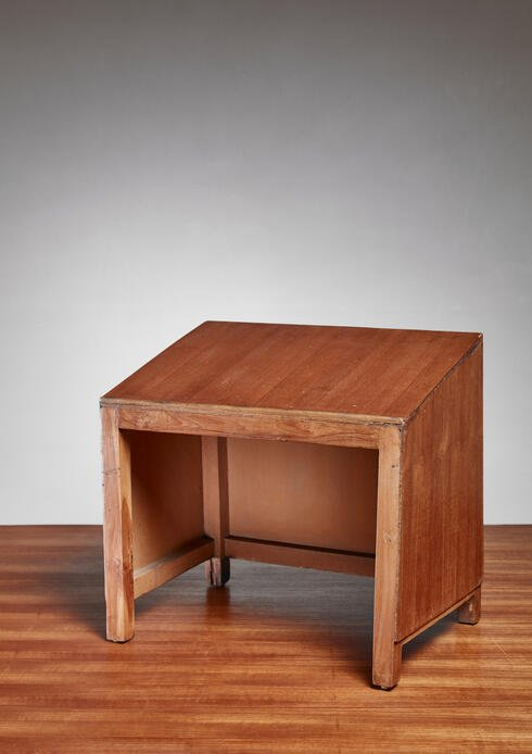 Bloomberry - Pierre Jeanneret teak lectern from Chandigarh, 1950s