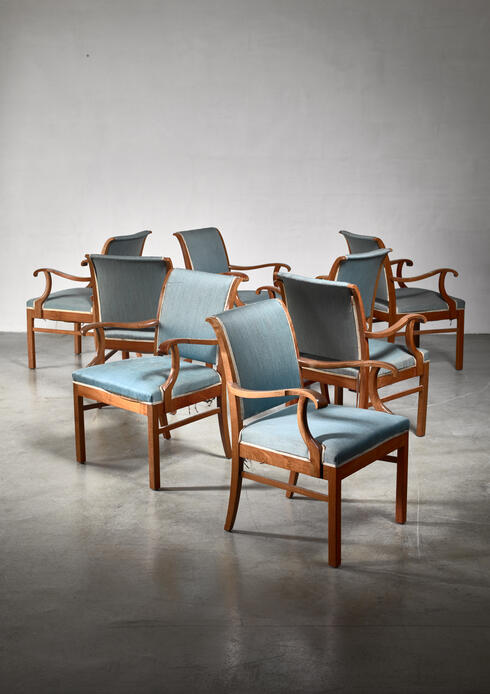 Bloomberry - Fritz Hansen set of 20 conference chairs, Denmark, 1940