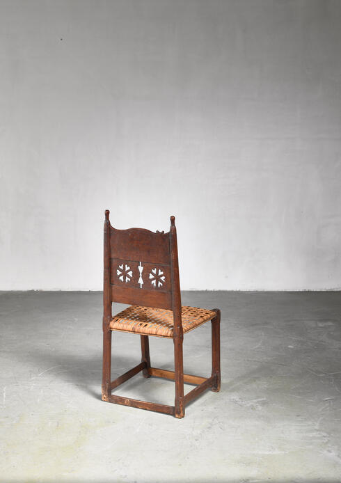 Bloomberry - Folk art side chair, Sweden, 18th/19th century