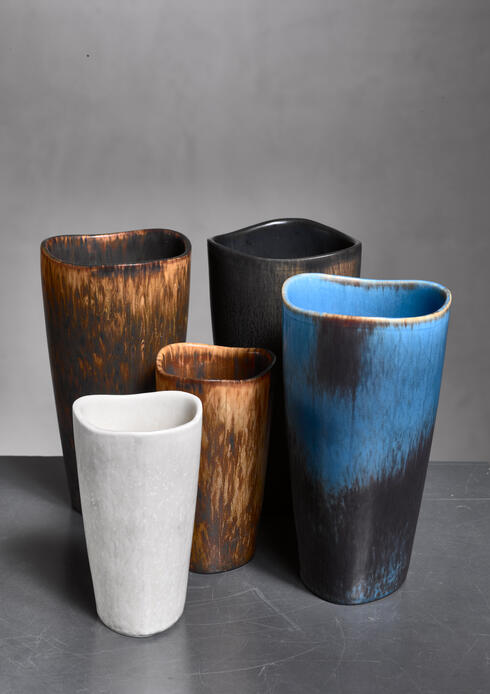 Bloomberry - Gunnar Nylund set of five Aks vases, Sweden, 1950s