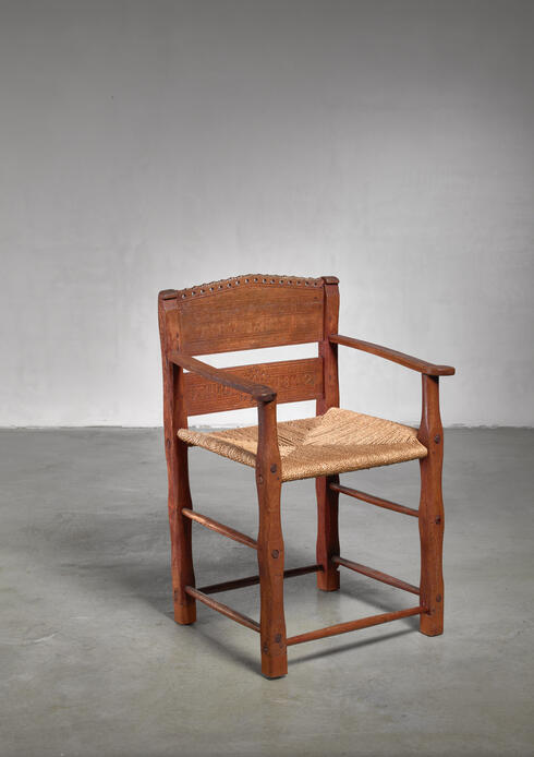 Bloomberry - Danish folk art chair from 1842