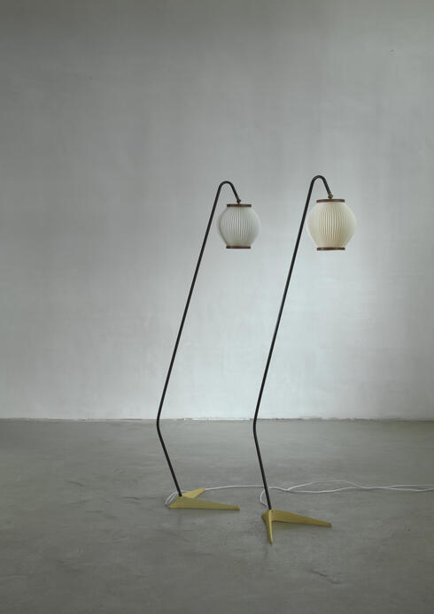 Bloomberry - Svend Aage Holm Sørensen pair of floor lamps, Denmark, 1950s