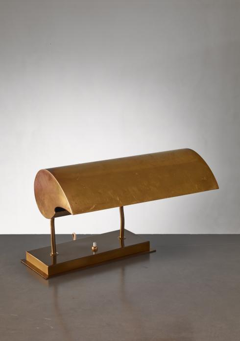 Bloomberry - Angelo Lelli brassdesk lamp for Arredoluce, Italy