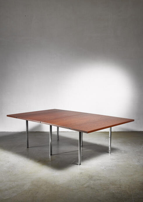 Bloomberry - Rare Wenge and Stainless Steel Table by Preben Fabricius, 1970s
