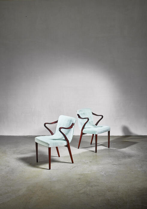 Bloomberry - Axel Larsson pair of model 1522 armchairs, Bodafors, 1930s