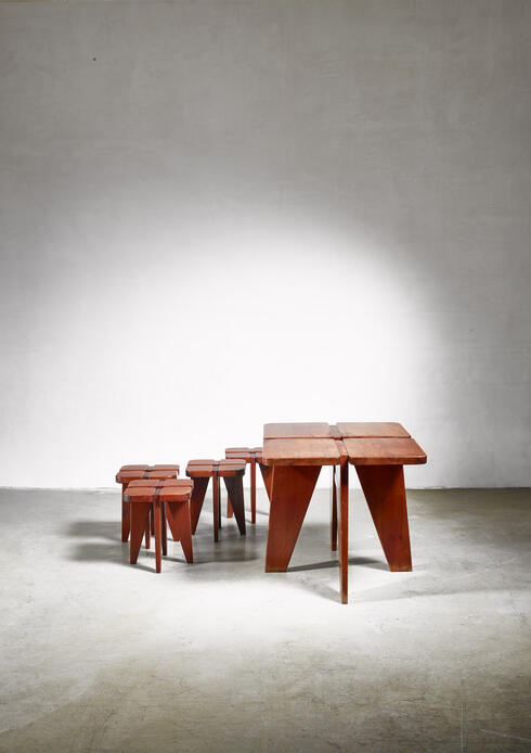 Bloomberry - Rauni Peippo table and stools for Stockman, 1950s