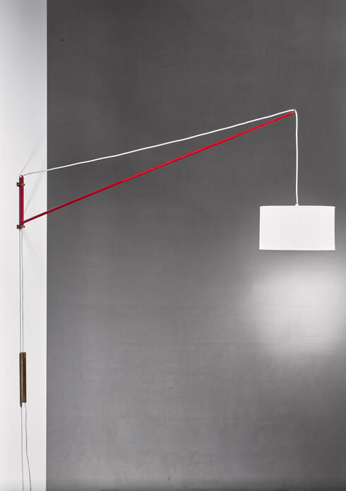 Bloomberry - Jib Style Swiveling Wall Lamp By Finn Form owner Mangano, Italy, 1950s