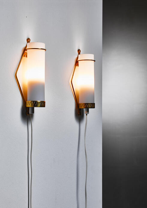 Bloomberry - Maria Lindeman pair of wall lamps for Idman, Finland, 1950s