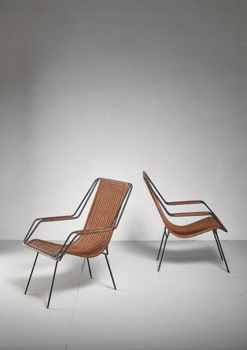 Bloomberry - Carlo Hauner and Martin Eisler pair of lounge chairs, Brazil