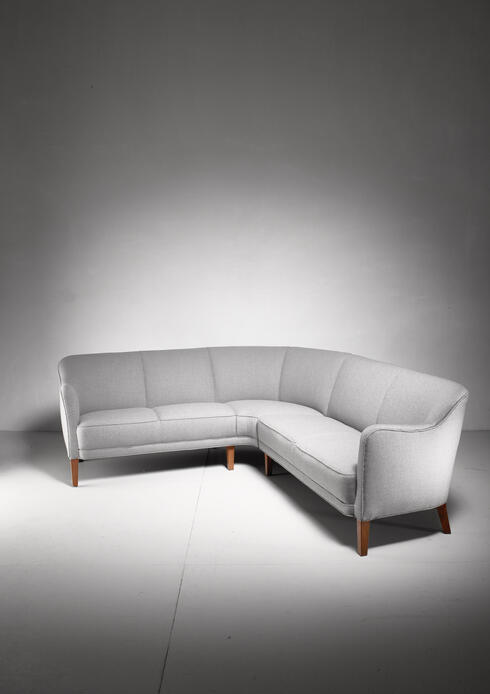 Bloomberry - Large corner sofa, Denmark, 1940s