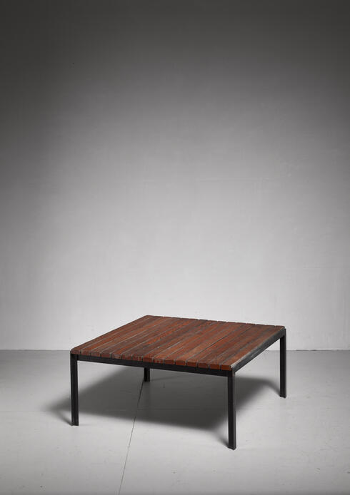 "Bloomberry - Florence Knoll Early ""T-Bar"" Slat Coffee or Side Table, USA, 1950s"
