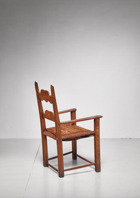 Bloomberry - Danish carved oak armchair, dated 1808
