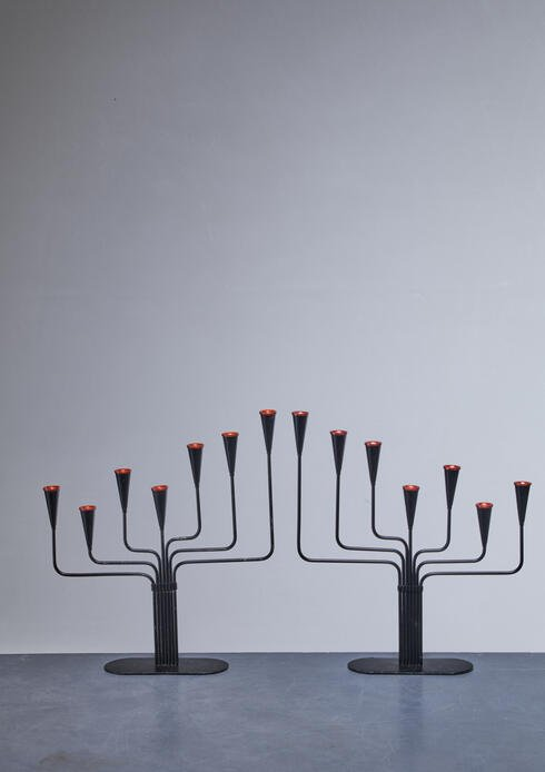 Bloomberry - Pair of Gunnar Ander candelabras for Ystad, Sweden, 1960s