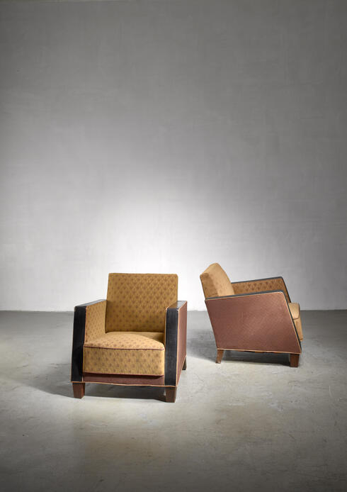 Bloomberry - Pair of Swedish Art Deco club chairs