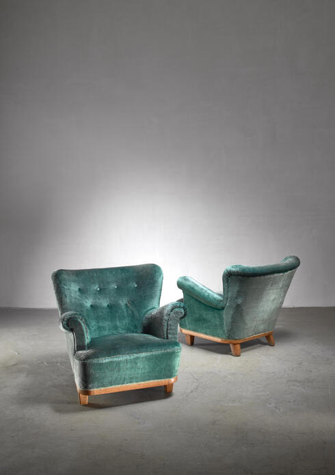 Bloomberry - Pair of Swedish Art Deco easy chairs