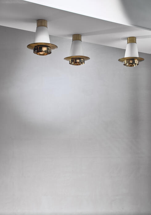 Bloomberry -  Yki Nummi set of three ceiling lamps for Orno