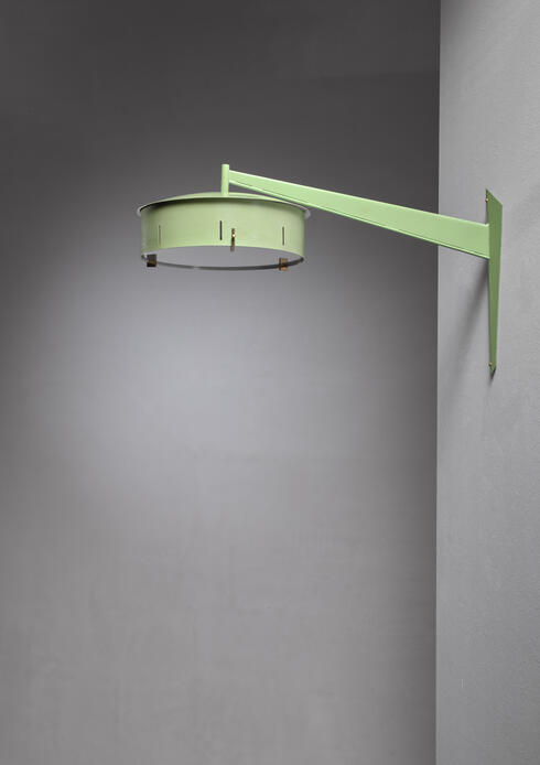 Bloomberry - Italian 1950s Stilnovo Wall Applique In Pale Green Metal