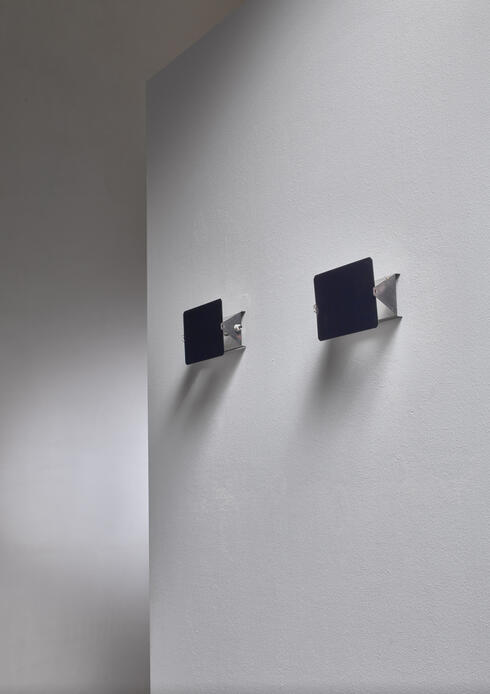 Bloomberry - Pair of  early Charlotte Perriand CP1 enamel wall appliques