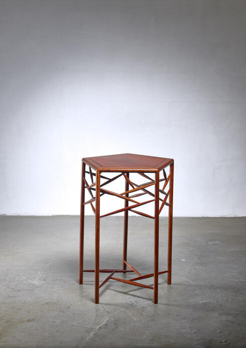 Bloomberry - Studio craft wood side table, American, 1960s