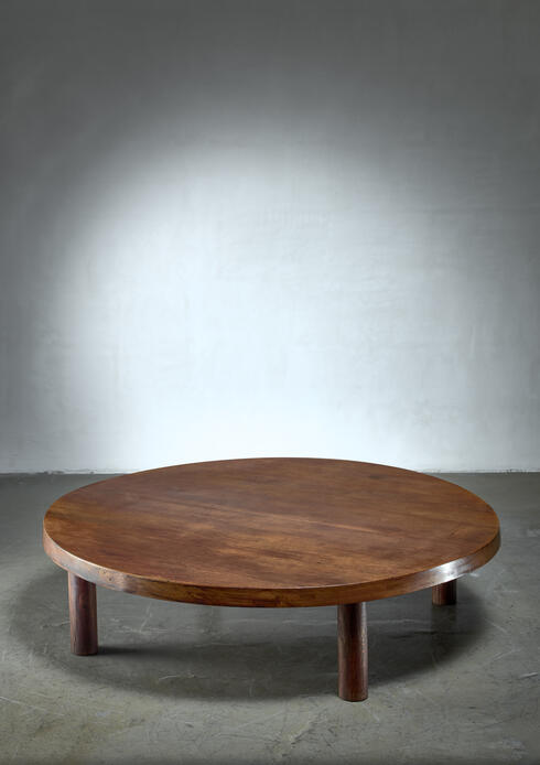 Bloomberry - Large (128cm / 50.4 inch)  Pierre Chapo T02 coffee table in oak, France, 1960s