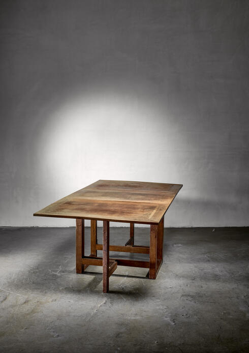 Bloomberry - Muntendam drop-leaf dining table for LOV, Dutch, 1920s