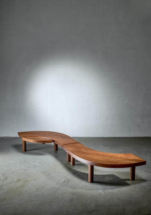Bloomberry - Pierre Chapo T22 L'Oeil coffee table in pine, 1960s