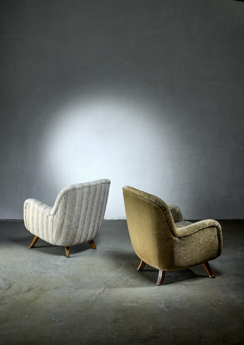 Bloomberry - Berga pair of lounge chairs, Sweden, 1940s
