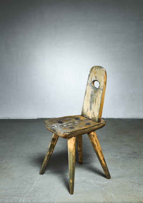 Bloomberry - Folk art wooden side chair, Sweden, circa 1900