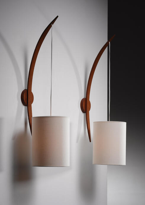 Bloomberry - Rispal boomerang shaped wall lamps