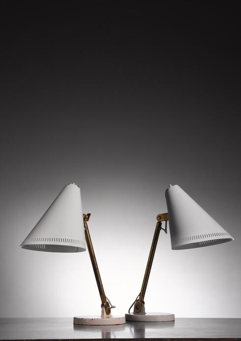 Bloomberry - Pair of Paavo Tynell table lamps for Taito
