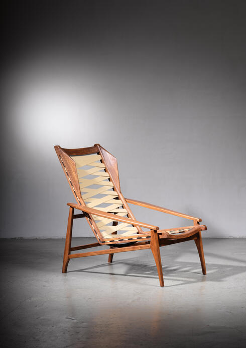 Bloomberry - Variation on Gio Ponti Lounge Chair, Italy, 1950s
