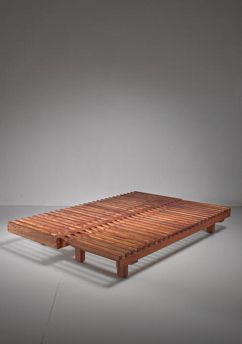Bloomberry - Pierre Chapo convertible elm daybed, France, 1960s