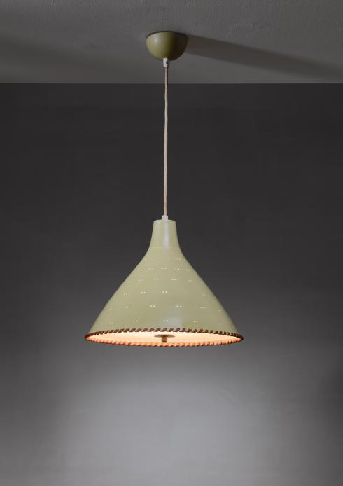 Bloomberry - Paavo Tynell light yellow pendant with leather string