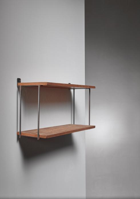 Bloomberry - Muriel Coleman Iron and Brushed Wood Shelve Unit