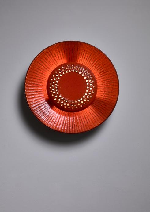Bloomberry - Red ceramic wall lamp