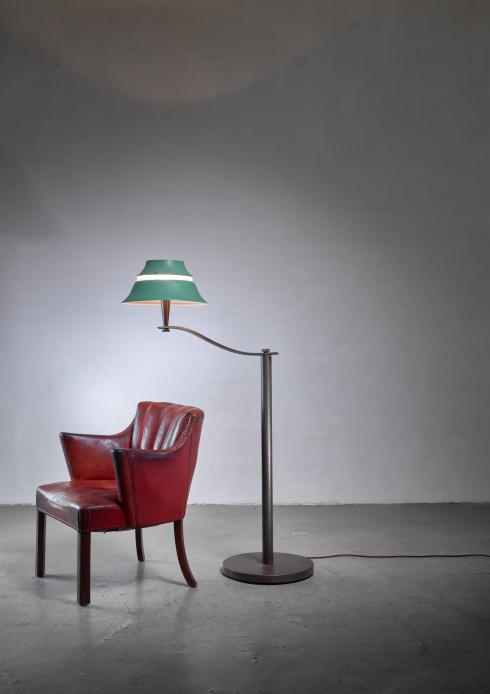 Bloomberry - Jean Perzel Art Deco floor lamp, France