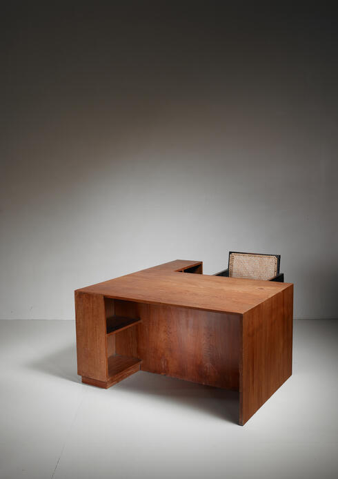 Bloomberry - Pierre Jeanneret Judge's deliberation desk from Chandigarh