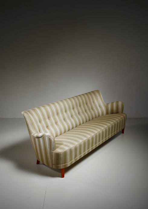 Bloomberry - Carl Malmsten rare four seater sofa, Sweden, circa 1960