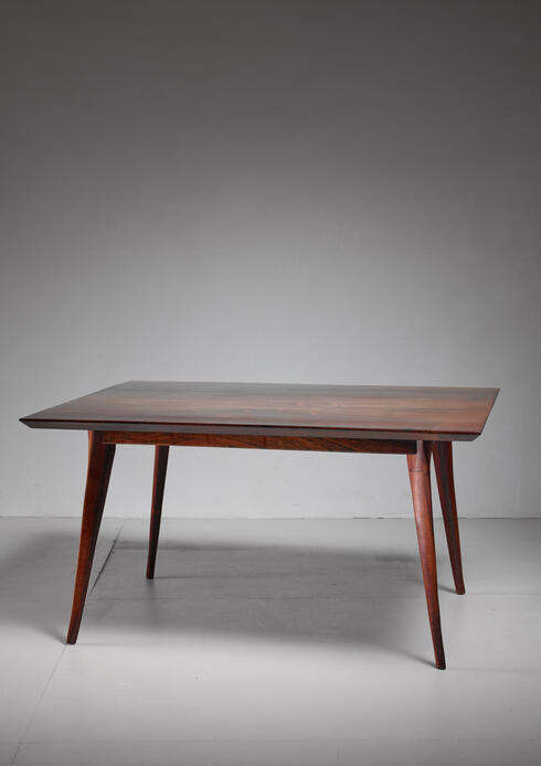 Bloomberry - Emil Milan studio craft dining table, USA, 1960s