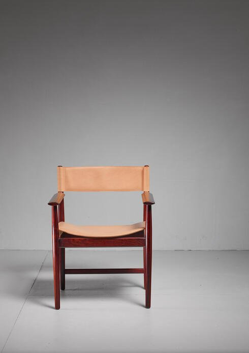Bloomberry - Kurt Østervig Rosewood and Leather Armchair for Sibast, Denmark, 1960s