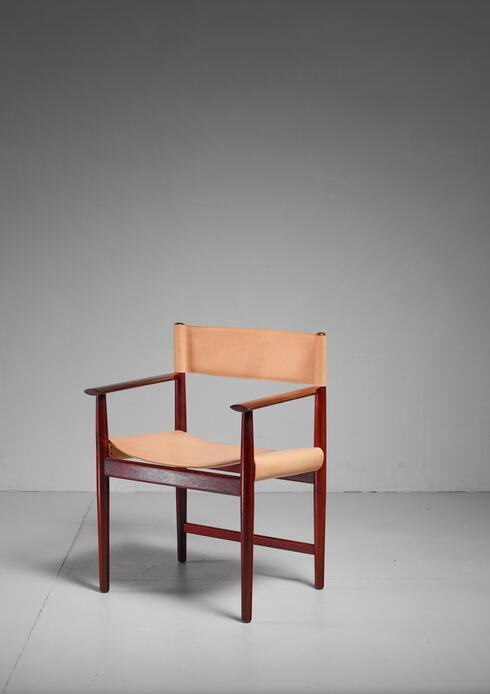 Bloomberry - Kurt Østervig Rosewood and Leather Armchair for Sibast, Denmark