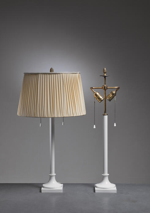 Bloomberry - Pair of white porcelain table lamps by KPM Berlin, 1930s